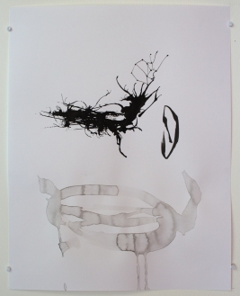 Sans titre. 2015. Encre de Chine et crayon sur papier. 30 x 23 cm / 12 x 9 pouces. Photo: Nélanne Perron-Racine