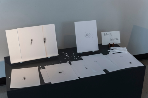 Dessins d'équivalence. 2017. Vue de l'exposition. Carrefour culturel Paul-Médéric, Baie-Saint-Paul. Photo: Louis Laliberté.