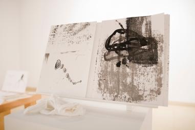 Entretisser (vue de l'exposition). 2018. Centre des arts et de la culture, Saguenay. Photo: Gabriel Fortin.