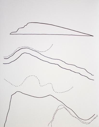 Cartes. 2015. Crayon-feutre sur bristol. 43 x 36 cm / 14 x 17 pouces.