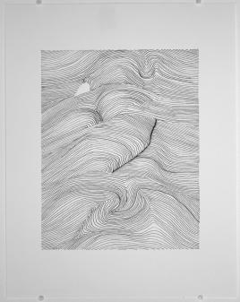 Oméga. 2018. Crayon-feutre sur papier. Photo: Natasha Durand.