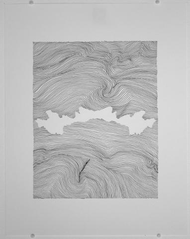 Céline (symétrie). 2018. Crayon-feutre sur papier. Photo: Natasha Durand.