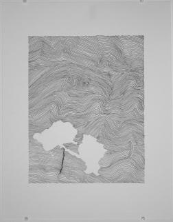 Géographis. 2018. Crayon-feutre sur papier. Photo: Natasha Durand.
